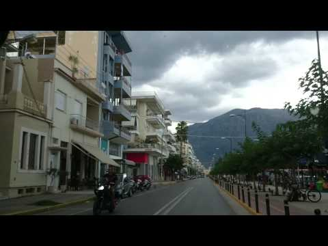 Kalamata - driving through town- part 1