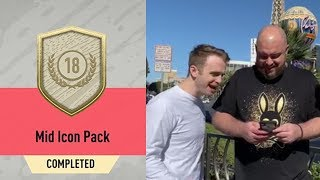 OPENING MY MID ICON PACK WITH BATESON87 IN VEGAS! - FIFA 20 Ultimate Team
