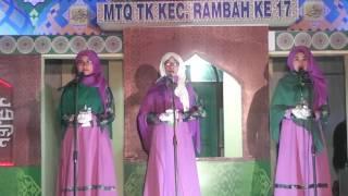 Gambar cover Memukau penonton, Sarahan Syarhil Qur'an MTQ Tingkat Kecamatan Rambah Ke XVII tahun 2017.