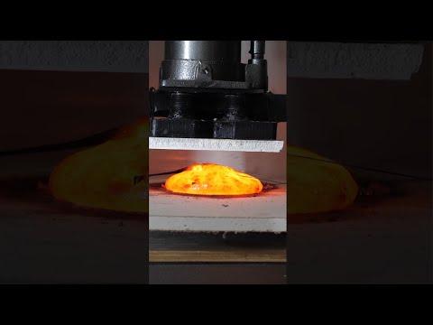 Crushing Lava In a Hydraulic Press is Fun