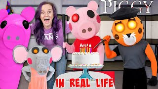 Roblox PIGGY In Real Life - Birthday Party with New INFLATABLE TRAP