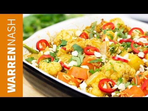 Vegetable Biryani Recipe - Easy vegetarian dishes at home - Recipes by Warren Nash