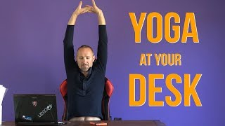 Yoga at your desk (10 easy exercises) - Office Yoga