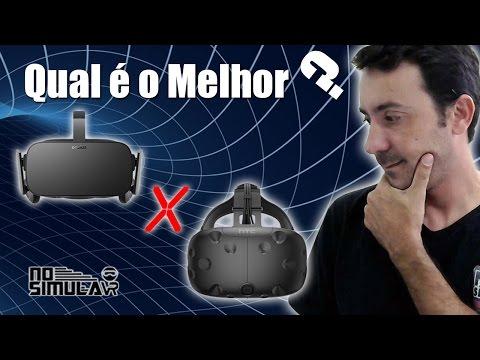 Oculus Rift X HTC Vive - Qual é o Melhor?