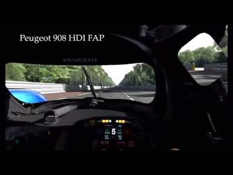 GranTurismo 5 HD LeMans Audi R10 TDI vs Peugeot 908 HDI LaSarthe lap comparison