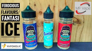Ferocious Flavours: Berrylicious/Strawberry Milkshake, Fantasi Ice Lemonade, vapoholic.co.uk