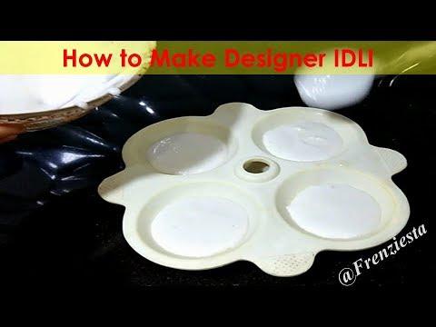 How To Make Designer Idli  Two Colour Idli  Frenziesta