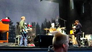 The Decemberists improvise from the Outfield catalog at Sasquatch 2011