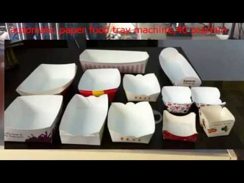 automatic paper food tray machine