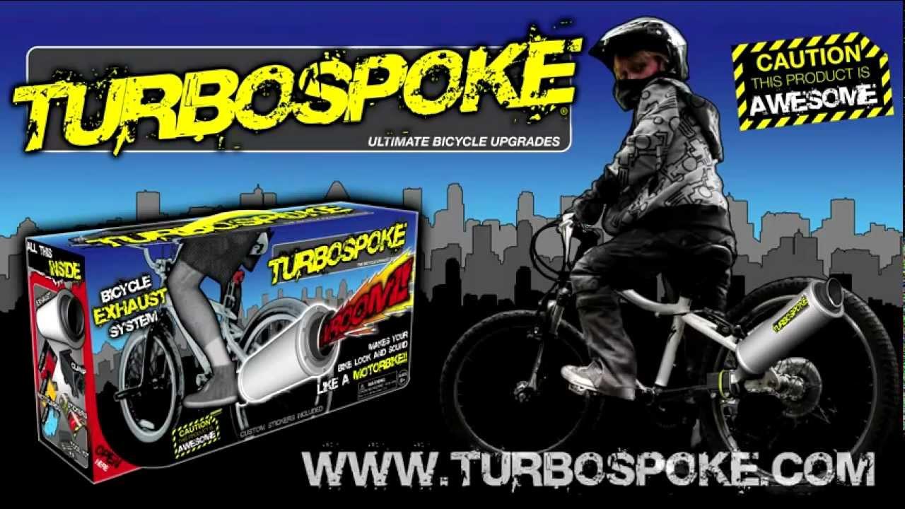 Bicycle Exhaust System Turbospoke Bike Motorcycle Noise Maker Motor Sound BMX