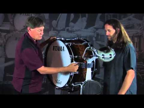 Tama Marching Bass Drums with Tom Float And Roger Carter
