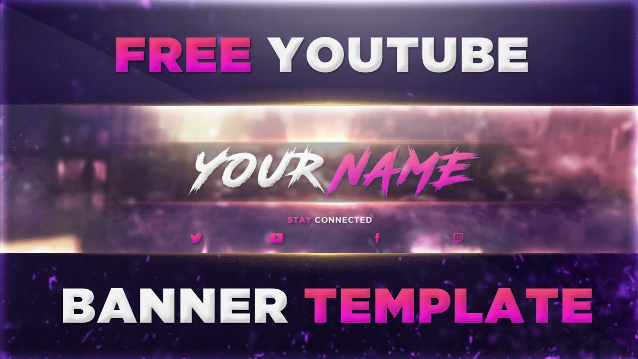 banner template for youtube free banner template for channel 7 i