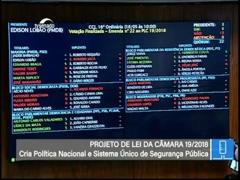 Votações - TV Senado ao vivo - CCJ - 16/05/2018