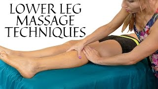 HD Relaxing Leg & Foot Massage Tutorial, Pain Relief in Feet, Lower Legs | Soft Speaking & Music