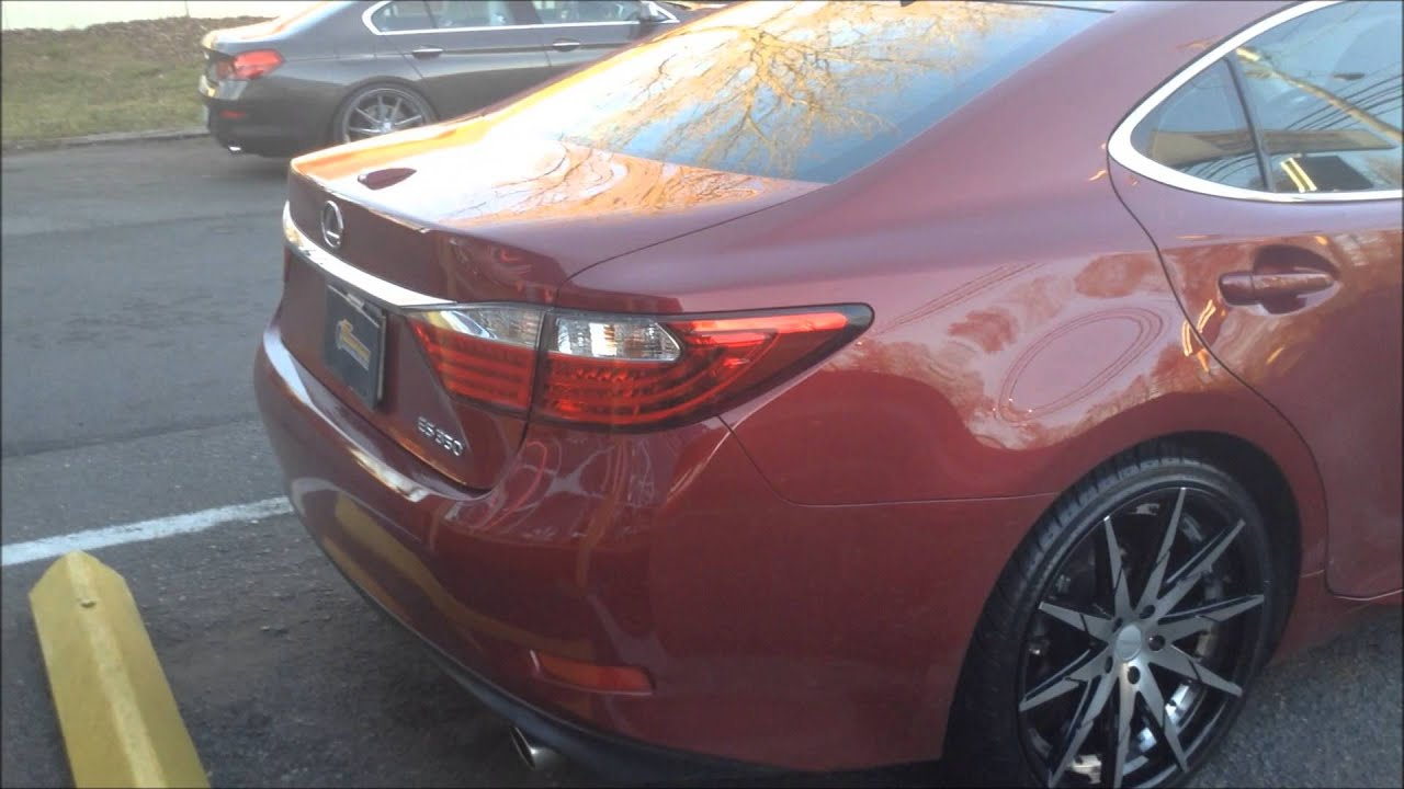 2014 Lexus Es350 rolling out of Rimtyme of Charlotte on a set of