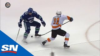 Flyers' Laughton Undresses Canucks