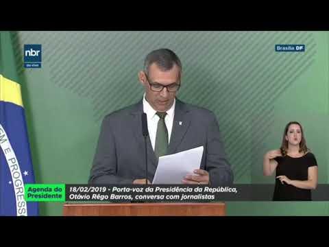 Porta-voz da Presidência da República fala sobre agenda do dia do Presidente Bolsonaro.