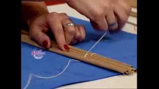 Silvina Buquete - Bienvenidas TV - Realiza unas cortinas de enrollar en cestería.