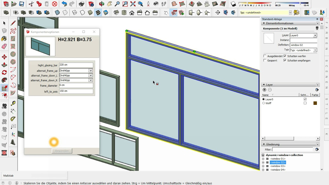 download sketchup dynamic component