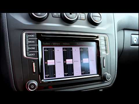 01 vw the new caddy infotainmentsystem das radio youtube. Black Bedroom Furniture Sets. Home Design Ideas