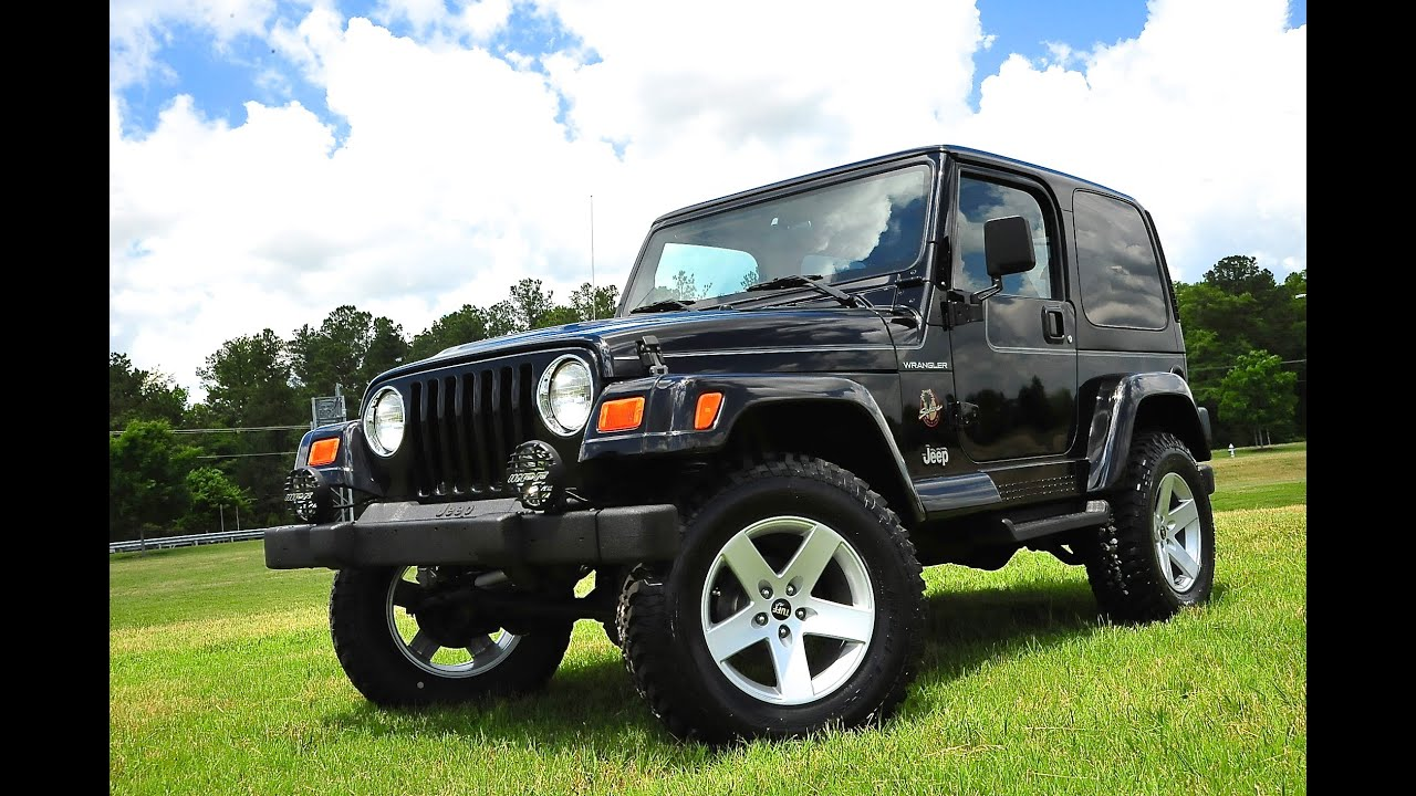 davis autosports 2002 jeep wrangler sahara lifted 36k. Black Bedroom Furniture Sets. Home Design Ideas