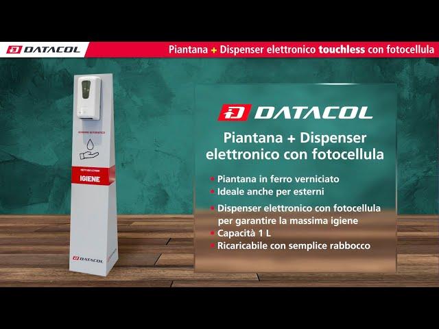 Piantana con dispenser gel touchless con fotocellula (Z431115 Z431116)