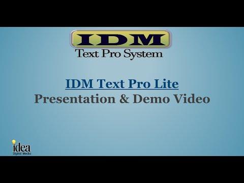 IDM Text Pro Lite Video Presentation & Demo