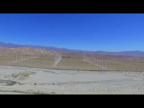 Drone Flight - Palm Springs, California, United States - Windmills