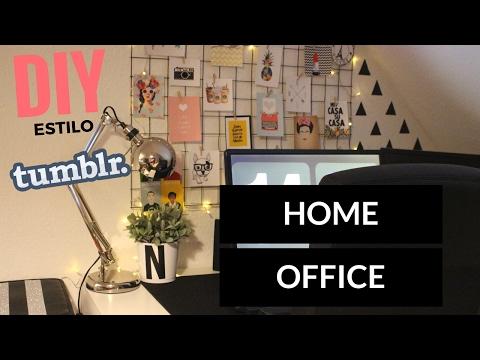 DIY // HOME OFFICE // MURAL ARAMADO// DECORAR O ESCRITÓRIO COM 5€ ( ESTILO TUMBLR) REGRESSO ÀS AULAS