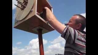 Будни постройки аксиального ветрогенератора   установка мачты , запуск ветрогенератора , часть7