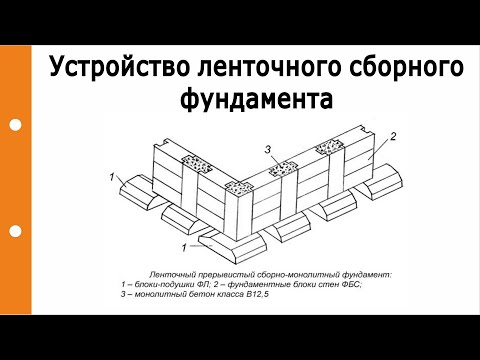 Устройство ленточного сборного фундамента. Особенности соединения между собой узлов подушки