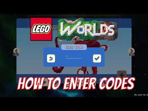 LEGO Worlds - How to Enter Codes for in Game Content
