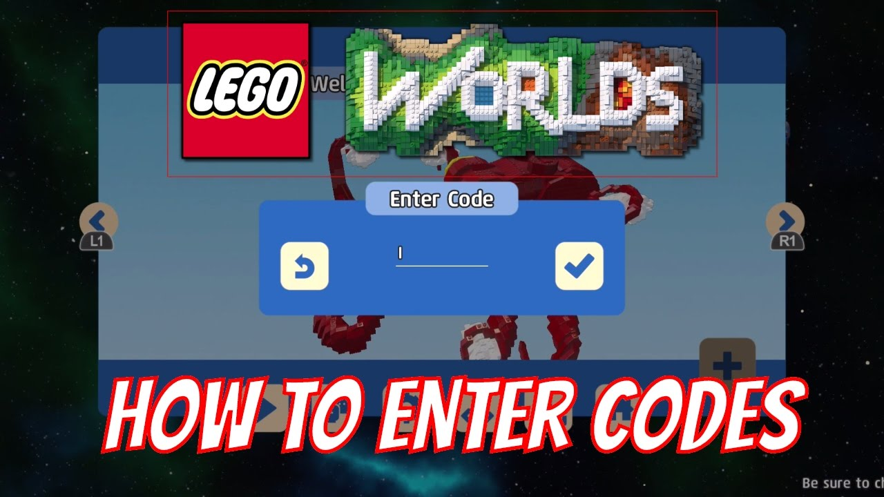 <b>LEGO Worlds</b> - How to Enter <b>Codes</b> for in Game Content - YouTube