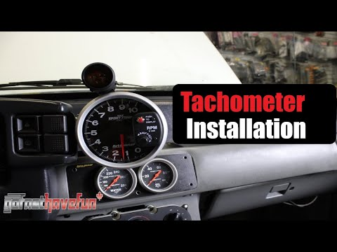 how to install a tach / tachometer installation (autometer / greddy) |  anthonyj350 - youtube