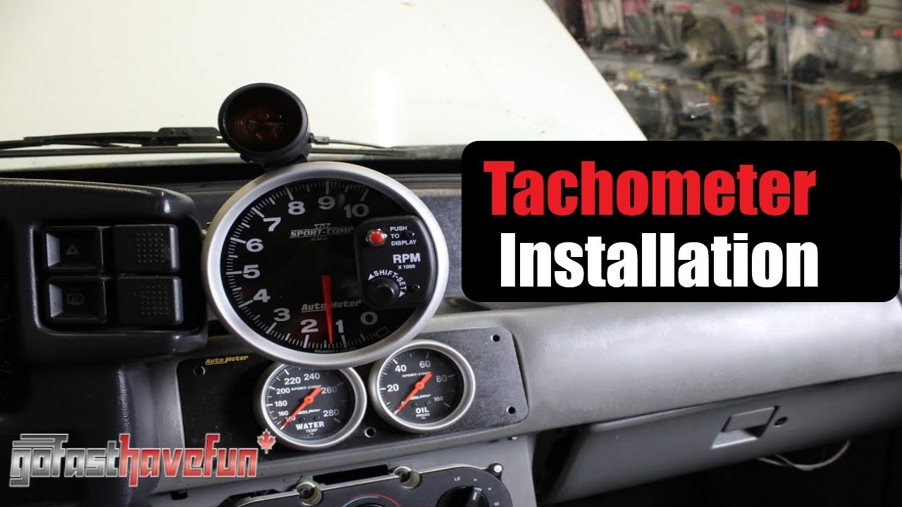 how to install a tach  [ 1280 x 720 Pixel ]