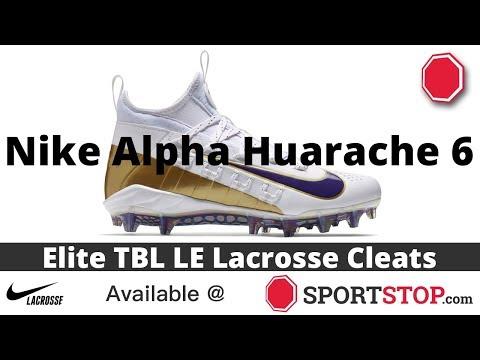 c5606b4d8796 Nike Alpha Huarache 6 Elite TBL LE Lacrosse Cleat Product Video @SportStop  com - YouTube