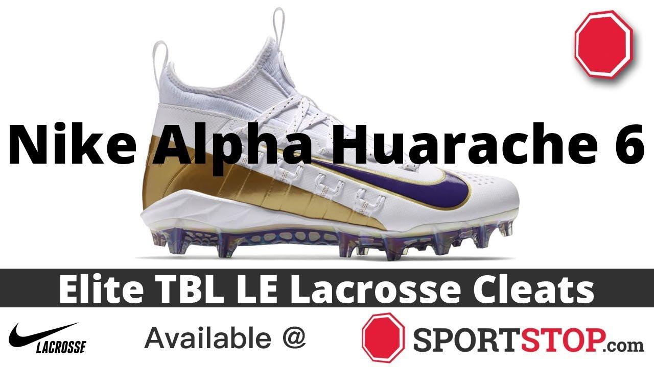 4ec7f59dcd9e Nike Alpha Huarache 6 Elite TBL LE Lacrosse Cleat Product Video @SportStop  com