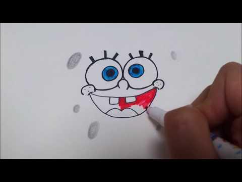 스폰지밥 얼굴  그리기/ 스폰지밥 그리는방법