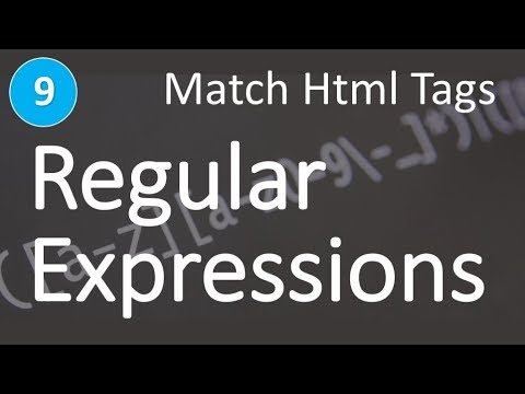 Regular Expressions (RegEx) Learn And Master | Match HTML Tags #9