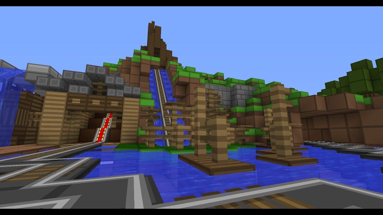 Minecraft Splash Mountain Youtube