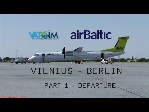 [FSX/VATSIM] Vilnius (EYVI) - Berlin (EDDT) -  Departure (PART1)
