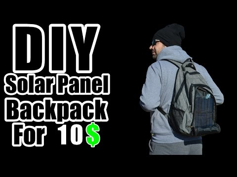 How To Make Solar Backpack for 10$