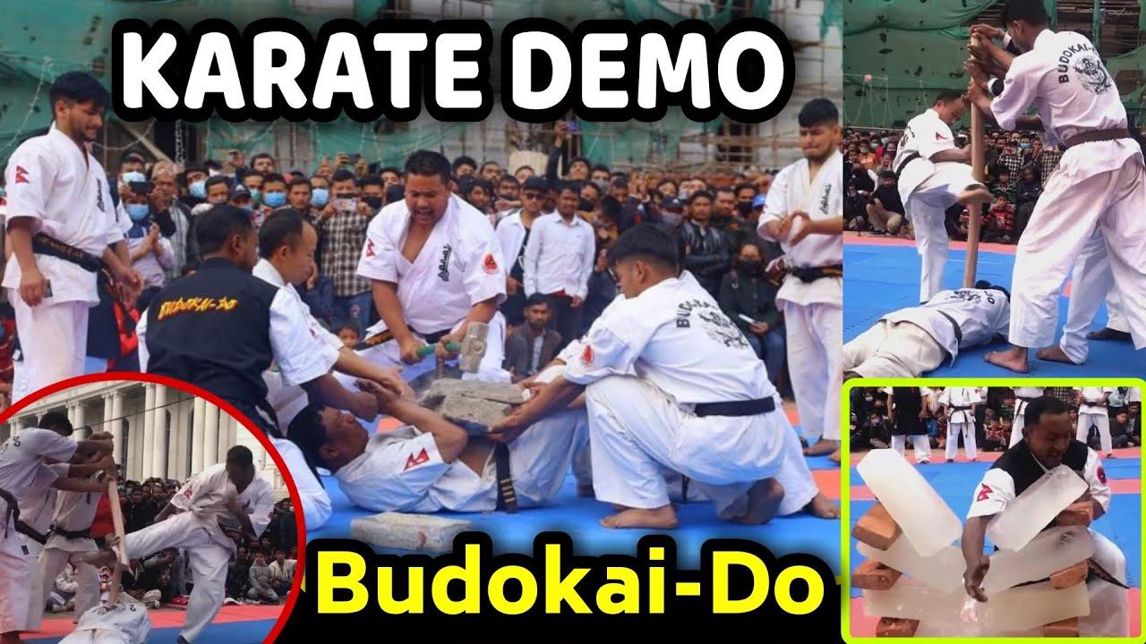 Stone Breaking, Ice Breaking & Stick Breaking Demonstration    Budokai-Do Full Contact Karate