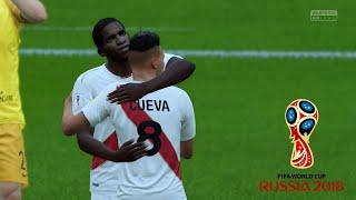 PERÚ VS AUSTRALIA - MUNDIAL RUSIA 2018 (FIFA WORLD CUP 2018) FIFA 18