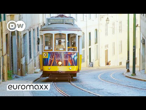 Taking A Ride On The Famous Tram Eléctrico E28 In Lisbon | One Of The World's Steepest Inclines