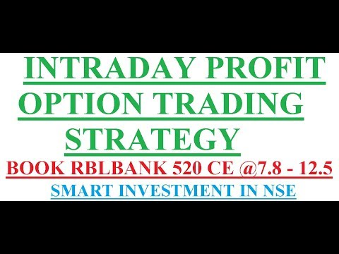 Live Intraday Profit in Option trading Strategy    Smart Investment in NSE