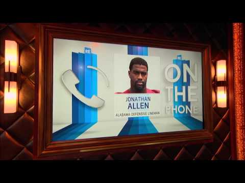 Alabama DE Jonathan Allen on His Drive & Nick Saban as a Coach - 3/28/17