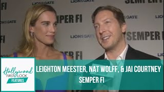 SEMPER FI (2019) | Interviews With LEIGHTON MEESTER, NAT WOLFF, & JAI COURTNEY With KIYRA LYNN