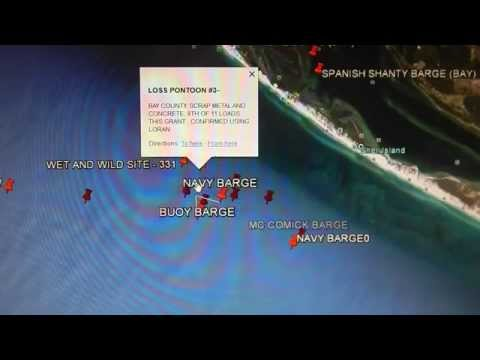 Google Earth Fishing - Panama City Reef Overview