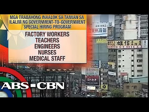 Bandila: More than 1,000 jobs in Taiwan open for Pinoys